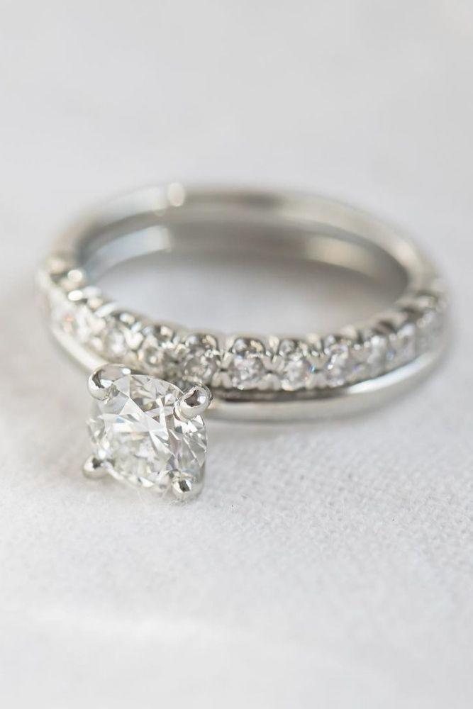 diamond wedding rings with round cut diamonds1