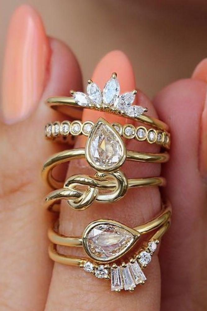 diamond wedding rings yellow gold wedding rings1