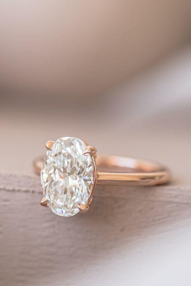 solitaire engagement rings simple with oval center stone1