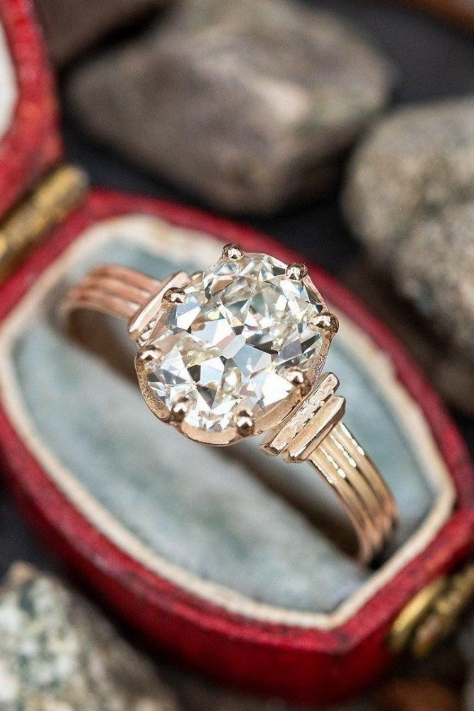 vintage engagement rings rose gold engagement rings1